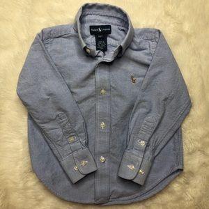 Ralph Lauren Blue Button Down Shirt Size 2T